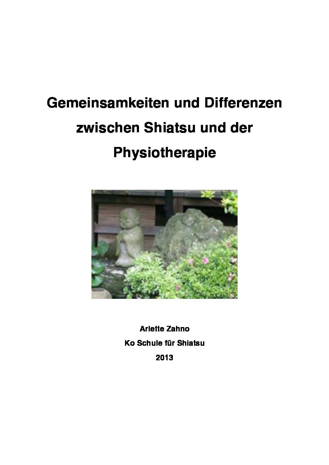 Shiatsu und Physiotherapie (2013, Arlette Zahno)