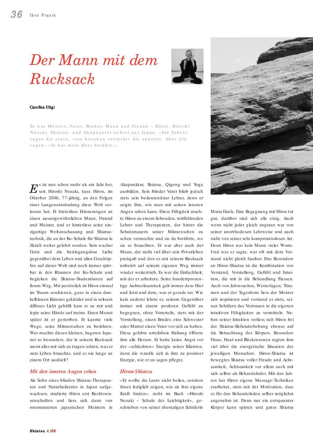 Der Mann mit dem Rucksack (April 2008)