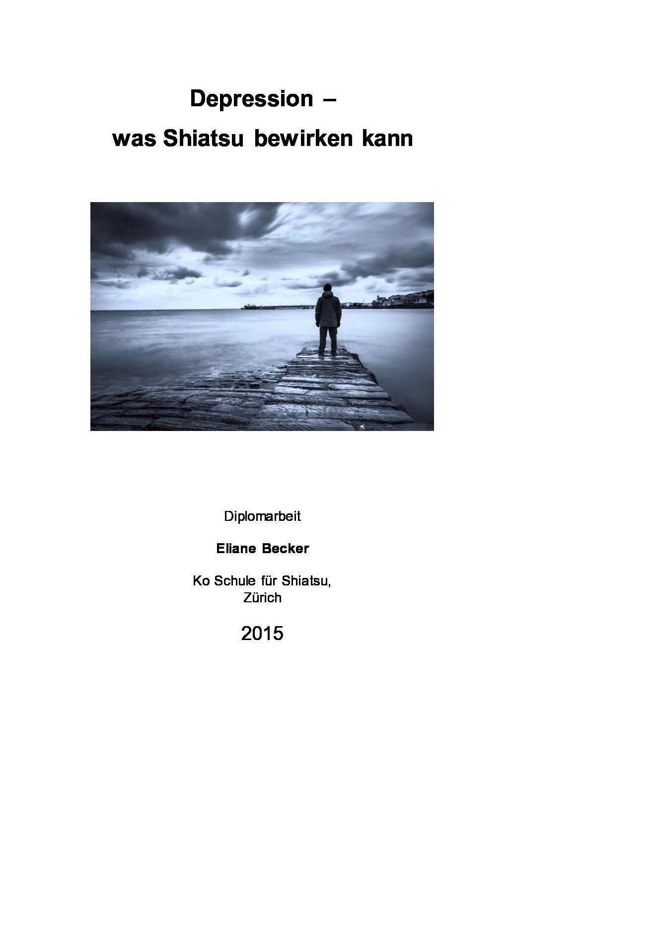 Depression – Was Shiatsu bewirken kann (2015, Eliane Becker)