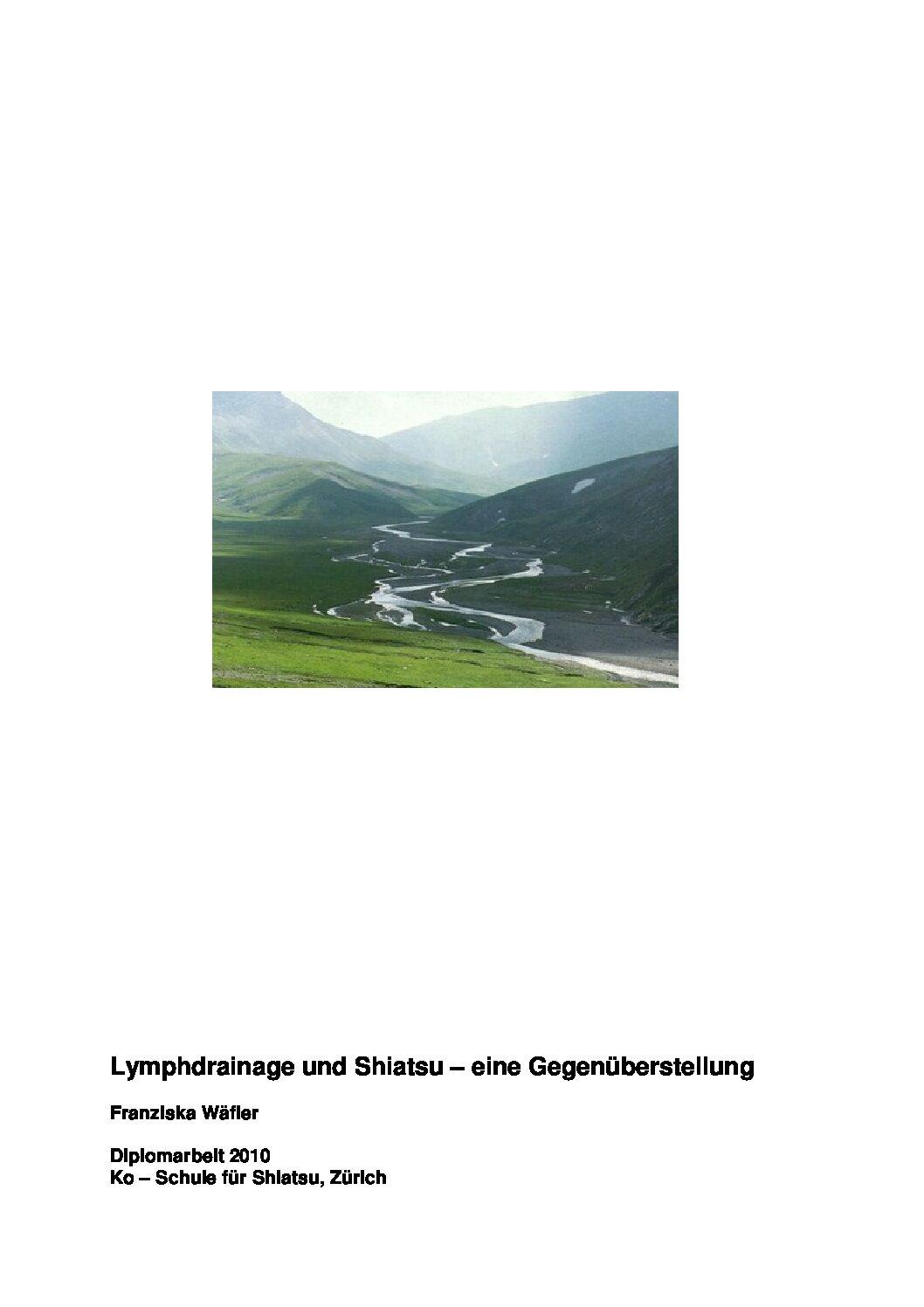 Lymphdrainage und Shiatsu (2010, Franziska Wäfler)
