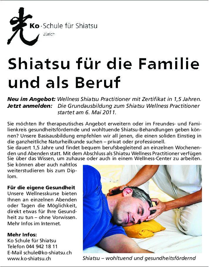 Shiatsu für die Familie und als Beruf (März 2011)