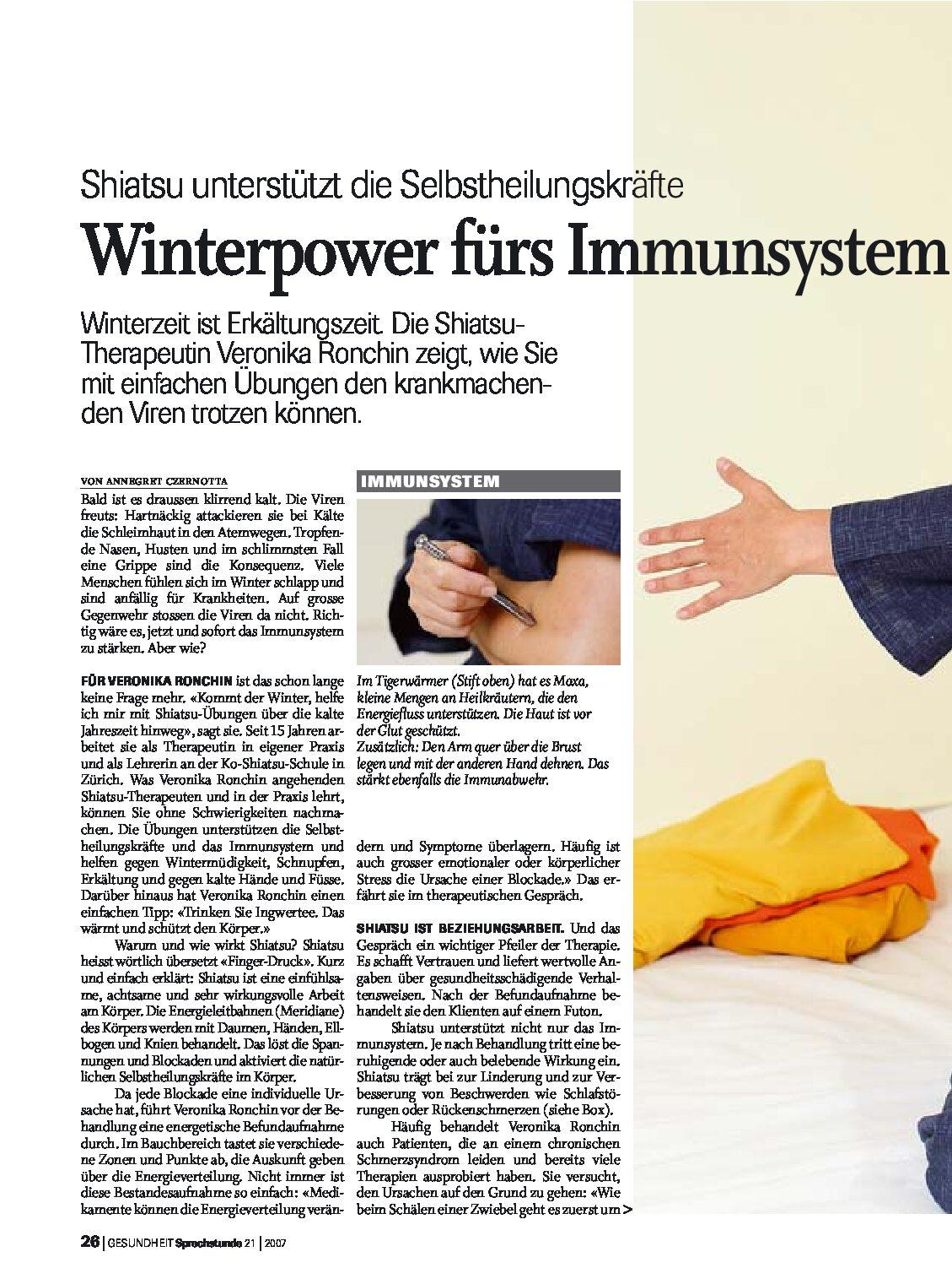Winterpower fürs Immunsystem (2007)